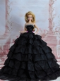 Amazing Black Dress With Sequins Made To Fit The Quinceanera Doll