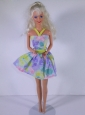 Beautiful Colorful Princess Dress For Quinceanera Doll
