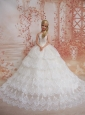 Exquisite Wedding Dress To Quinceanera Doll Dress With Lace