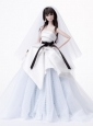 Fashion Handmade Quinceanera Doll White Tulle Wedding Dress For Quinceanera Doll