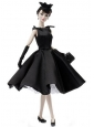 Fashion Handmade Black Quinceanera Doll Party Dress For Quinceanera Doll