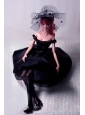 New Fashion Princess Black Dress Gown For Quinceanera Doll