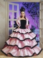 New Fashion Princess Handmade Baby Pink Strapless Party Clothes Fashion Dress For Quinceanera Doll