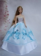 Pretty Ball Gown Taffeta And Organza Quinceanera Doll Dress