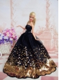 Pretty Dress With Sequins Made To Fit The Quinceanera Doll