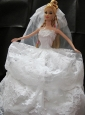 Romantic Wedding Dress With Lace Gown For Quinceanera Doll