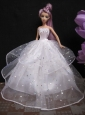 Romantic Wedding Gown With Sequins Dress For Noble Barbie