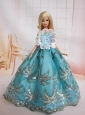 The Most Amazing Blue Dress With Sequins Made To Fit The Quinceanera Doll