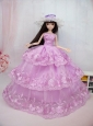The Most Amazing Pink Dress With Embroidery Made To Fit The Quinceanera Doll