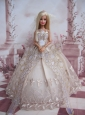 The Most Amazing Wedding Dress With Embroidery Made To Fit The Quinceanera Doll