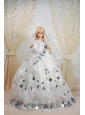 Amazing Ball Gown Dress For Quinceanera Doll With Sequin And Hand Made Flowers