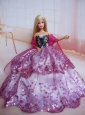 Beading Decorate Ball Gown Colorful Quinceanera Doll Dress
