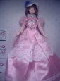 Cute Rose Pink Party Clothes Taffeta Beautiful Dress For Quinceanera Doll