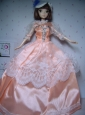 Elegant Orange Gowns Taffeta Made To Fit The Quinceanera Doll