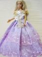 Embroidery Ball Gown Quinceanera Doll Dress
