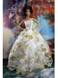 Lace Sweet White Princess Dress For Quinceanera Doll Dress