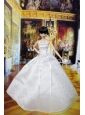 Lovely Wedding Dress For Quinceanera Doll With Hand Made Flowers