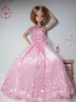 New Arrival Pink Dress With Tulle Made To Fit The Quinceanera Doll