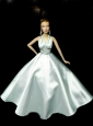 Perfect Party Dress To Quinceanera Doll Dress With Beading And Light Blue