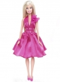 Pretty Princess Sequin Hot Pink Gown For Quinceanera Doll