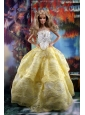 The Most Amazing Yellow Dress With Hand Made Flowers To Fit The Quinceanera Doll