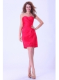 Coral Red Prom / Cocktail Dress Sweetheart Mini-length For Club