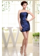 Strapless Ruched Over Skirt For Short Prom Dress