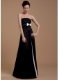 Bowknot A-Line Strapless Taffeta Floor-length Prom Dress