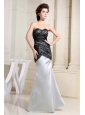 Black and Grey Prom Dress Sweetheart For Custom Made