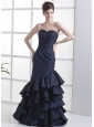 Mermaid Navy Blue Sweetheart Neckline Floor-length 2013 Prom Dress