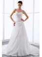 2013 Affordable Princess Sweetheart Wedding Dress With Appliques and Ruch For Wedding Party