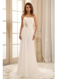 2013 Simple Empire Princess Wedding Dress With Beading and Ruch In Outdoor