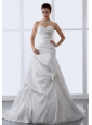 Hand Made Flowers Sweetheart A-line Wedding Dress 2013 New Style Hottest