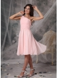 Baby Pink Empire One ShoulderDama Dresses for Quinceanera