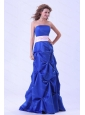 Blue Strapless and Pick-upsFor Long Dama Dress