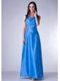 Blue V-neck Ankle-length Ruch 2013 Dama Dress
