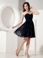 Discount Navy Sweetheart Chiffon Short Dams dress 2013