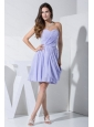 Lilac Ruch Sweetheart Knee-length For Dama Dress