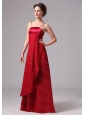 Long Spaghetti Straps Satin and Chiffon Dama Dresses On Sale