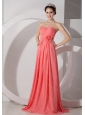 Long Watermelon Sweetheart Ruch Dama Dress On Sale 2013