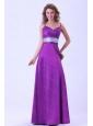 Spaghetti Straps Purple Floor-length Cheap Dama Dress