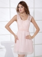 Straps Baby Pink Ruch For 2013 Cheap Prom Dress