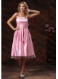 Baby Pink Spaghetti Straps Dama Dresses for Quinceanera With Sash