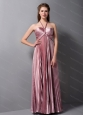 Pleat Halter Floor-length 2013 Dama Dress On Sale