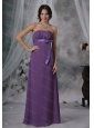 Ruched and Sash Purple Chiffon Strapless For 2013 Dama Dress