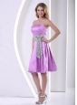 Short Lavender A-line Dama Dresses for Quinceanera Sash