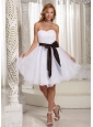 Sweetheart Sash Organza 2013 Dama Dresses for Quinceanera
