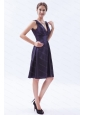 Beading Taffeta V-neck  Empire Dama Dress 2013