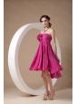 Hot Pink Strapless Mini-length Chiffon 2013 Dama Dress
