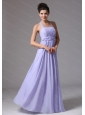 Lilac Halter Ruched Cheap Dama Dress On Sale